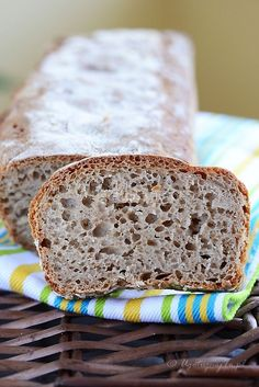 Przepis na szybki chleb dla zapracowanych, prosty i przepyszny chleb do szybkiego wykonania. Jeden z najprostszych przepisów na chleb jakie udało mi się... Quick Bread Recipes, Baby Food Recipes, Cake Recipes, Cooking Recipes, Bread Bun, Breakfast Snacks, Sourdough Bread, Bread Baking, I Love Food