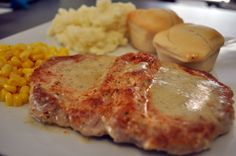 Creamy Ranch Pork Chops (Would also be good using cubed pork steaks)...Made this for dinner tonight and yes I completely blew the diet out the window and down the street across state lines for this one...holy comfort food was this ever beyond scrumptious!!!!