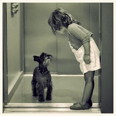 I'll hold the door for you... such an adorable moment!