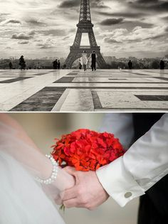 A Romantic Ceremony in Paris by WeddingLight Events via Whimsical Wonderland Weddings   Planning by WeddingLight Events - www.weddinglightevents.com and Photography by Olivier Lalin of WeddingLight Photography - www.weddinglight.com