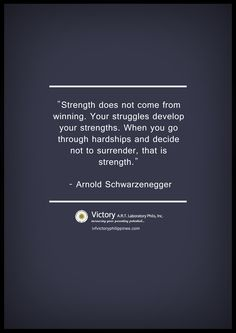 you develop strength when you are experiencing hardship and never gave up. #infertility