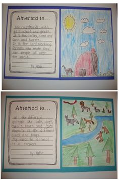 America is writing activity included in America is...unit. Fun unit! Great for Memorial Day or Fourth of July!