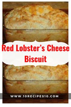 Red Lobster's Cheese Biscuit – One Of Recipe Red Lobster Bread, Red Lobster Cheese Biscuits, Cheddar Bay Biscuits, Biscuit Bread, Cheese Bread, Cheddar Cheese, Goat Cheese, Copycat Biscuit Recipe, Copycat Recipes