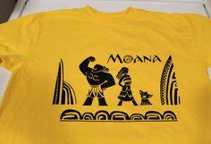 Custom Moana birthday shirt using Silhouette Cameo heat transfer glitter vinyl. Moana Birthday Party Theme, Moana Party, Silhouette Images, Silhouette Design, Freezer Paper Shirt, Maui, Hawaii, Disney Princess Silhouette, Moana Disney