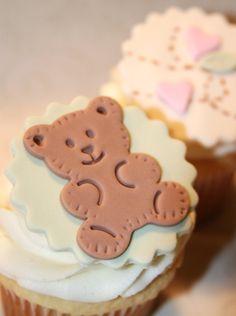 Fondant cupcake toppers Teddy Bear
