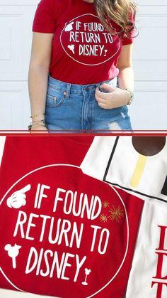 If Found: Return to Disney Shirt | Disneyland Shirt | Disney Shirt I I need this shirt,