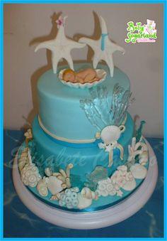 Sea christening and wedding cake - Cake by Bety'Sugarland - CakesDecor