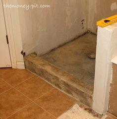 Master Bathroom Days 11 13: Shower Curb, Waterproofing And Floor Repair |  The