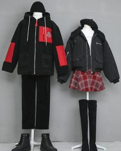 Image may contain: people standing and shoes Fashion Couple, Teen Fashion Outfits, Kpop Outfits, Korean Outfits, Cute Fashion, Trendy Fashion, Cute Outfits, Korean Fashion Trends, Korean Street Fashion