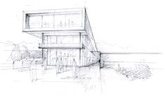 Gallery of University College Ostfold Halden / Reiulf Ramstad Arkitekter - 17 Architecture Graphics, Architecture Drawings, Concept Architecture, Architecture Details, Contemporary Architecture, Etch A Sketch, Model Sketch, Drawing Sketches, Drawing Tips