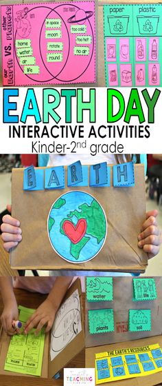 "Hands-on, engaging, interactive Earth Day science activities that will fit in a science journal or science notebook or in a 3 dimensional foldable lap book. These STEM activities on earth day activities, earth resources, soil, plants, water, recycling, good for the earth and bad for the earth are perfect kindergarten, first grade, and second grade. To learn more about ""Earth Day"", visit www.tunstallsteachingtidbits.com"
