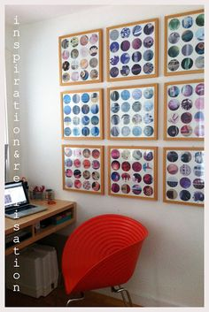 DIY Recycled Magazine Wall Art in the Round Tutorial from inspiration & realisation here. Go to the link to see to see a closeup of all the frames.Now I know why Donatella posted her magazine and inspiration and set of tutorials on Sunday here! Magazine Wall Art, Magazine Collage, Magazine Crafts, Recycled Art Projects, Diy Projects, Design Projects, Recycled Crafts, Diy Wall Art, Diy Art