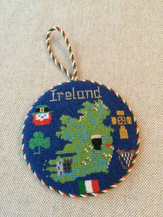 Ireland Needlepoint Ornament ~ Canvas by Silver Needle