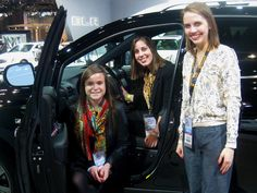 Interning in High Gear: Student experience fast-paced PR work as interns for the Chicago Auto Show. Communication Department, Chicago Auto Show, Public Relations, North America, Kimono Top, Students, Floor, City, Women