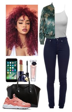 """""""How to wear Huarache"""" by clo-23 ❤ liked on Polyvore featuring Burberry, Chanel, Topshop, Estée Lauder, Givenchy, NIKE and Lancôme"""