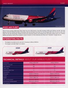 https://flic.kr/p/Hcbdzj | Wizzair Inflight Magazine, 2016 April-May, Fleet, Airbus A320, A321