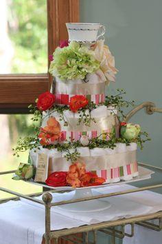 English tea themed diaper cake