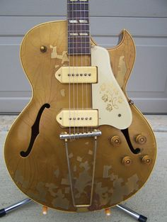 Gibson ES-295, basically the hollow body father of the Les Paul. www.vintageandrare.com