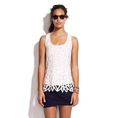 Appropriate lace tank
