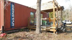 Shipping Container Homes: Shipping Container Family Home - Wendy Bowman - Fords Prarie, Texas, Shiping Container Homes, Shipping Container Sheds, Cargo Container Homes, Container Shop, Container Buildings, Container Architecture, Container House Design, Sustainable Architecture, Container Houses