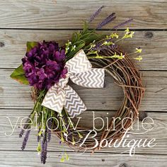 chevron bow wreath