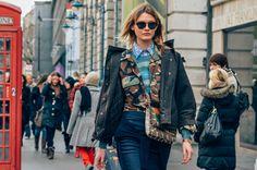 Tags Viktoria Sekrier, Snakeskin, Camouflage, Layering, Stripes, Prints, Jackets, Bags, FW12 Women's, London, Women, Sunglasses