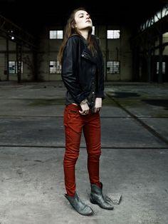 jacket, shirt, pants, boots.