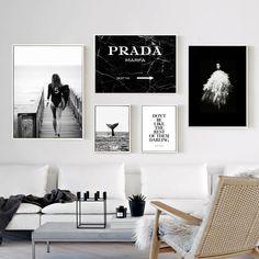 Leaf Wall Art, Canvas Wall Art, Surf, Photo Star, Black And White Wall Art, Black White, Black Wall Decor, Pop Art, Minimalist Painting