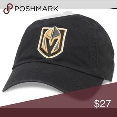 Las Vegas Golden Knights Hat OFFICIAL NHL TEAM LOGO Las Vegas Golden  Knights ADJUSTABLE for a perfect fit SLOUCH CAP HIGH QUALITY American  Needle Hat with a ... 3e7e569888b1