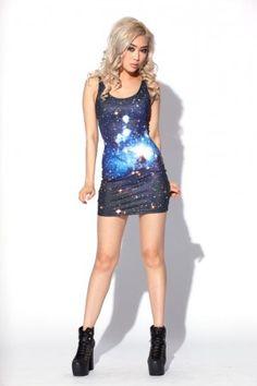 galaxy blue dress.