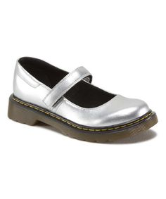 Look at this Silver Maccy Leather Mary Jane on #zulily today!