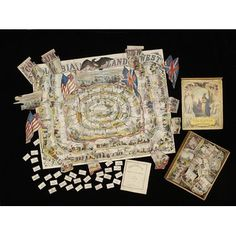Board game - Columbia, 1850s