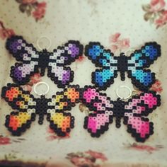 Butterflies perler beads by pixyicon