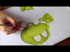 Pintura em Tecido - Sapinha secretária do lar!  Parte 1 - Artes Mariana ...