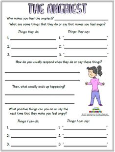 Therapeutic worksheets focused on helping kids and teens explore feelings of anger. Tools assist kids with identifying anger triggers and healthy anger management techniques. Coping Skills Worksheets, Anger Management Worksheets, Anger Management For Kids, Counseling Worksheets, Therapy Worksheets, Counseling Activities, Management Quotes, Family Therapy Activities, Activities For Teens