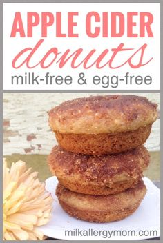 Dairy-free, egg-free Apple Cider Donuts. These are getting rave reviews from food allergy and vegan families. So glad!