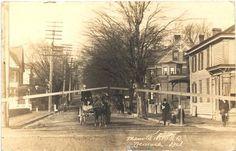 Main St. Newark.  Deer Park is on the leftn