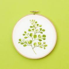 There's just something enchanting about ferns, isn't there? And maidenhair fern is one of my favorites. So here is my gift to you – a free maidenhair fern embroidery pattern! &nbs…