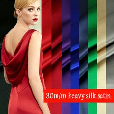 Find More Information about 15 Color 30m/m width 114CM Mulberry heavy Silk  satin fabric for  silk dress,High Quality fabric cable,China satin fabric white Suppliers, Cheap satin silk fabric from halo silk shop on Aliexpress.com Silk Satin Fabric, Silk Crepe, Silk Formal Dress, Formal Dresses, Mulberry Silk, Fashion Fabric, Sewing Crafts, Beautiful Dresses, Pure Products