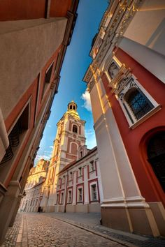 Poznan Poland, Parish Church in the city center together with the City Hall
