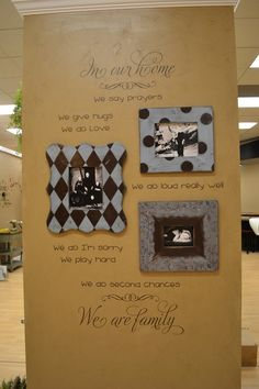 Vinyl 4 Decor, this is how I am going to decorate one of the walls in my living room. I LOVE these picture frames!