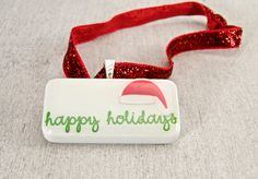 Christmas Santa's Happy Holidays Domino Ornament by WiReDBoutique on Etsy  Only $6