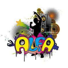 GrafikZone - 3eme déclinaison du logo pour un chanteur de rap