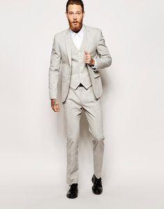 Image 1 ofASOS Slim Fit Suit In Nepp Fabric