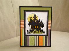 Haunted House Halloween Card. $4.00, via Etsy.