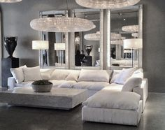 May 2019 - Restoration Hardware Cloud inspired modular sectional Living Room Remodel, My Living Room, Living Room Interior, Small Living, Modern Living, Living Room Furniture, Home Furniture, Antique Furniture, Wooden Furniture
