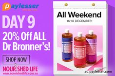 Get 20% additional discount on Dr Bronner's by using this coupon code at #NourishedLife #Coupon #Paylesser  Why pay more?
