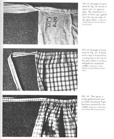 Three aprons from the Chester Co. Historical Society from Rural Pennsylvania Clothing by Ellen Gehret