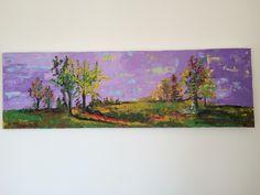 """""""Purple Landscape"""", Acryl auf Leinwand (160x50), Churfirsten"""