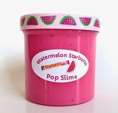Watermelon Starburst Scented Pop Slime 6oz Smells SO GOOD